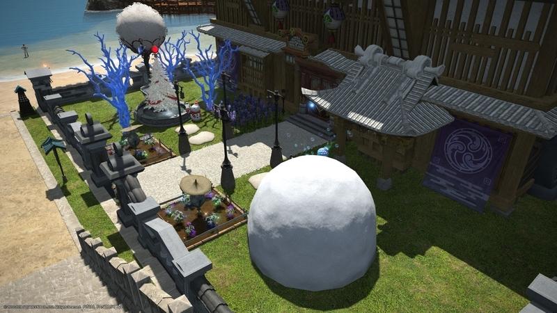 【FF14ハウジング】浸食洞の青珊瑚でクリスマスの庭をつくろう!
