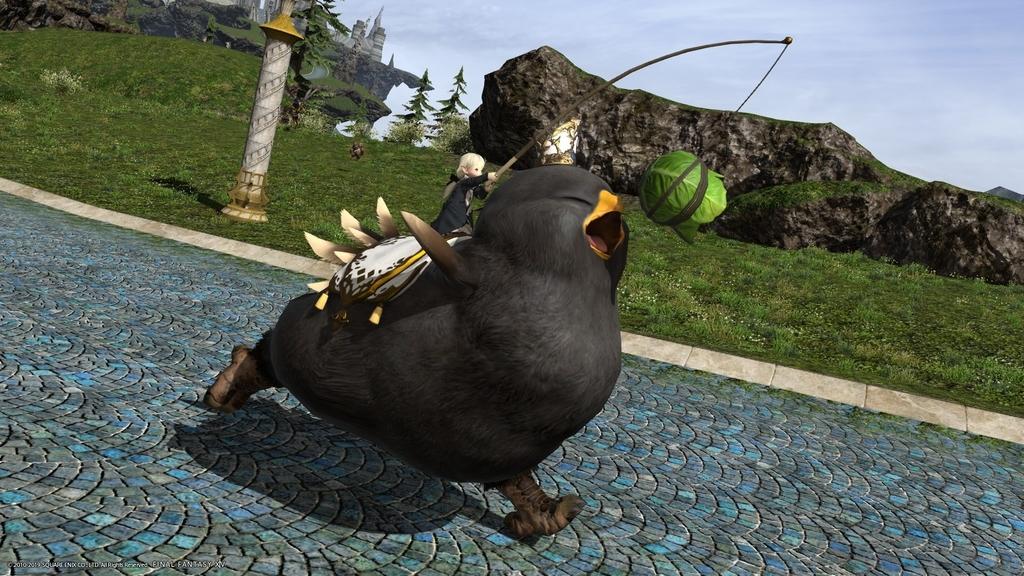 【FF14】でぶ黒チョコボが可愛すぎてたまらん…!