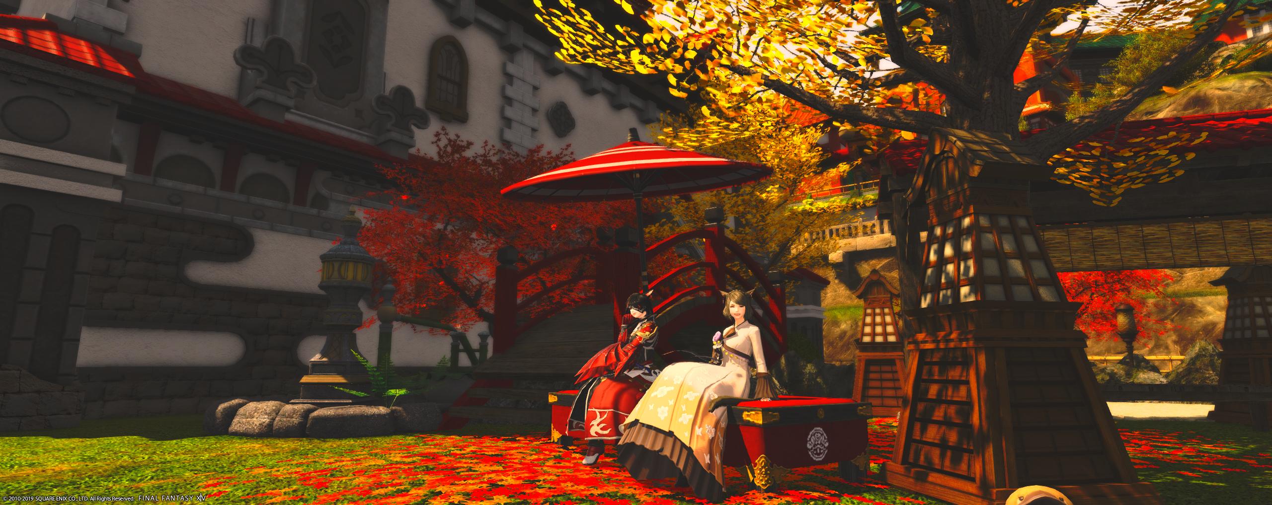 【ハウジング】秋の庭園を造りました